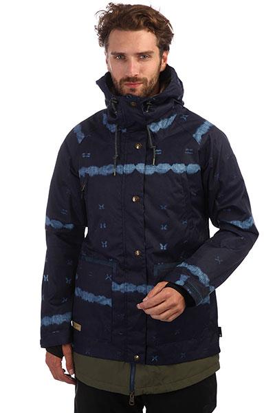 Куртка сноубордическая DC Riji Dark Blue Mud Cloth