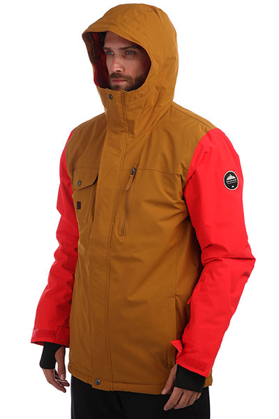 Куртка зимняя QUIKSILVER Mission Soli Golden Brown