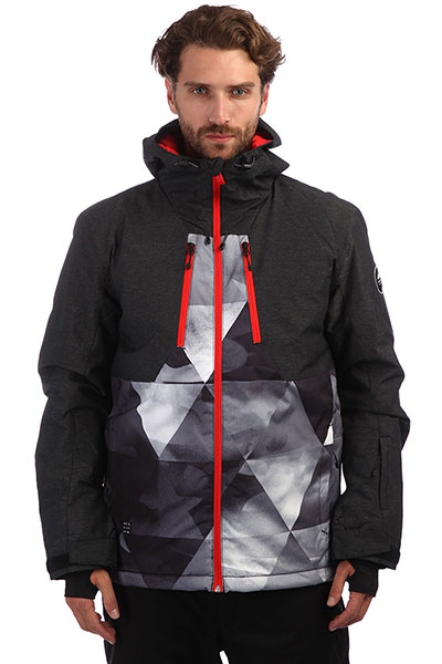 Куртка сноубордическая QUIKSILVER Mission Plus Grey Stretch Univers