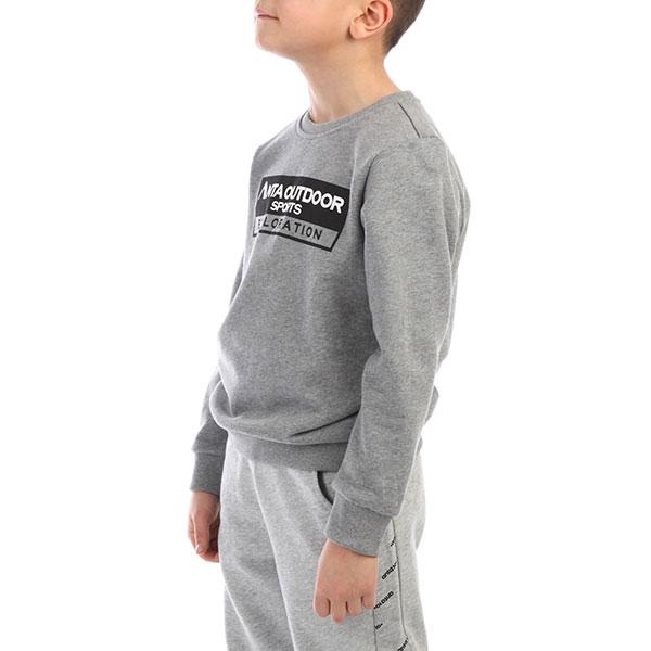 Толстовка классическая детская ANTA W3586702 Серая
