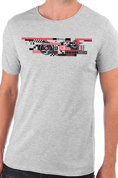 Футболка Wearcraft Premium Slim Fit Mail.ru #20летВперёд_3 Серый Меланж