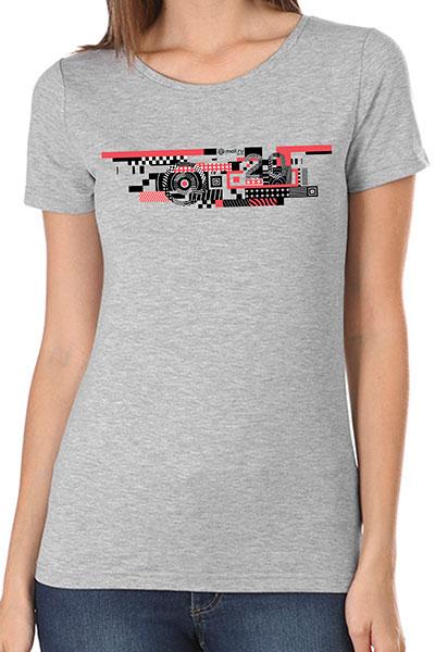 Футболка женская Wearcraft Premium Mail.ru  #20летВперёд_3 Серый Меланж