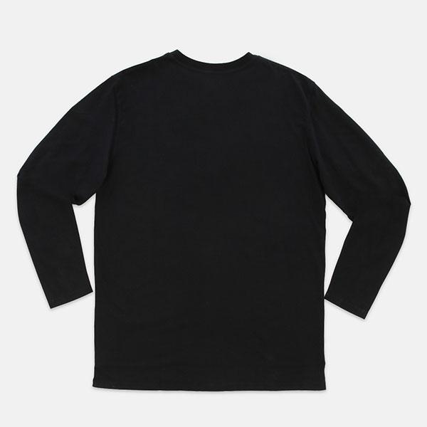 LONGSLEEVE SMALLROUND LOGO, S, ВС14107,BLACK,PPCM
