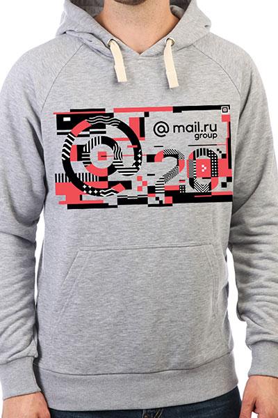 Толстовка Wearcraft Premium Mail.ru #20летвперёд Серый Меланж_20_years_4