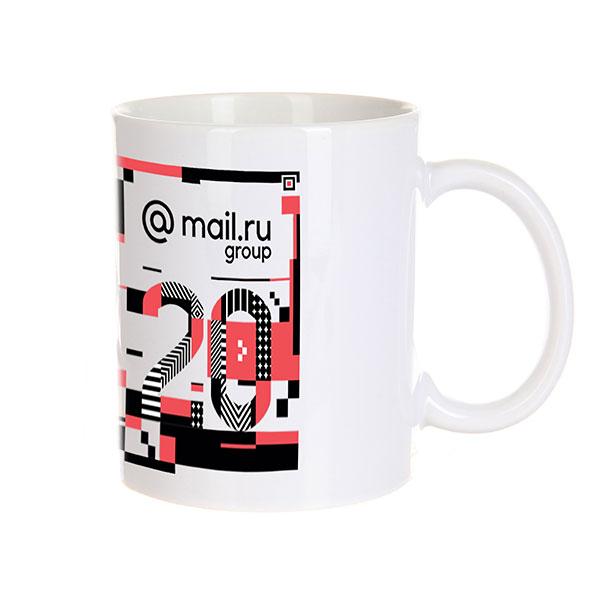 Кружка Mail.ru #20летвперёд Белая_20_years_4