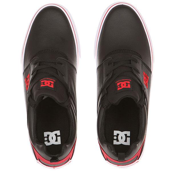 Кеды низкие DC Heathrow Vulc Black/Athletic Red/W