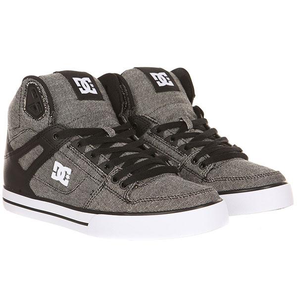 Кеды высокие DC Pure Ht Wc Tx Se Black/Grey/White