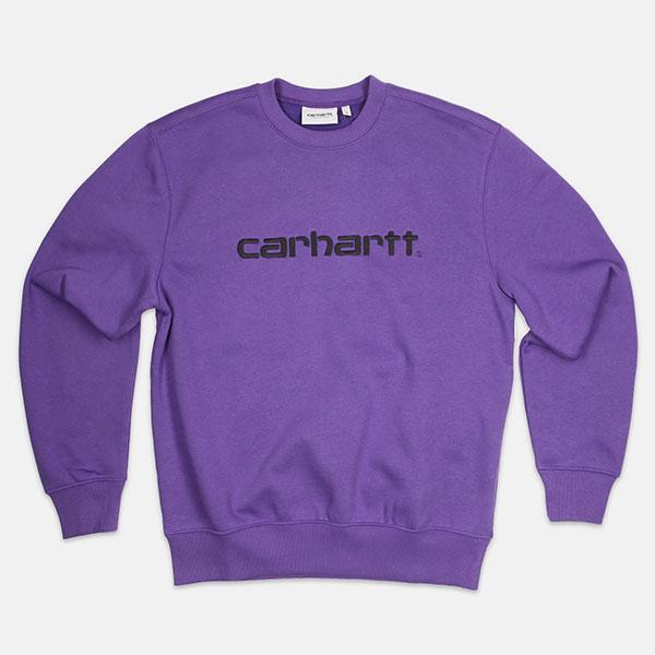 Толстовка Carhartt WIP Sweatshirt Frosted Viola/Black