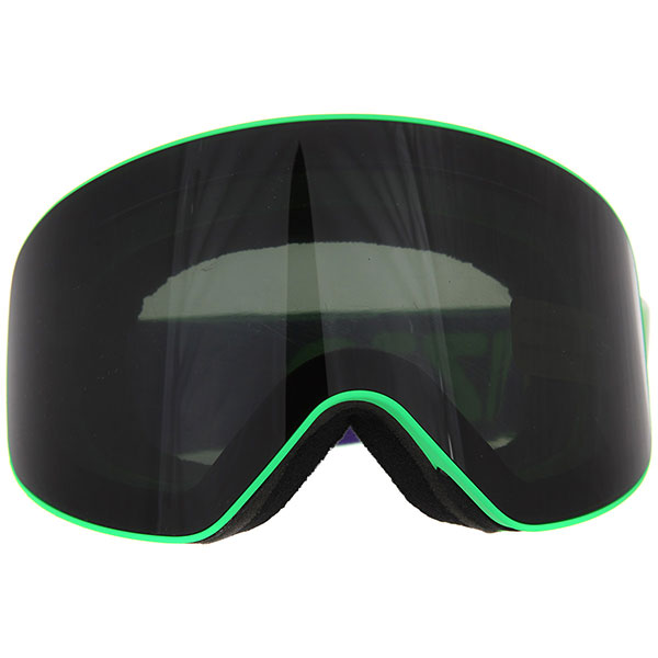 Маска для сноуборда Vizzo Affect Dark Smoke Mirror Green Frame