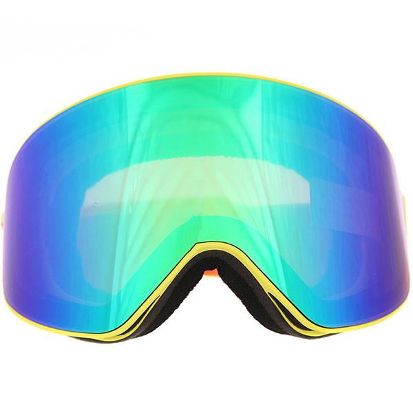 Маска для сноуборда Vizzo Affect Green Mirror Yellow Frame