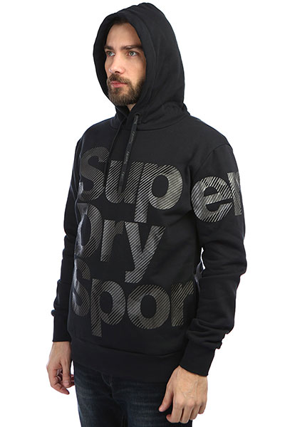 Толстовка кенгуру SuperDry Sport Combat Camo Hood Black