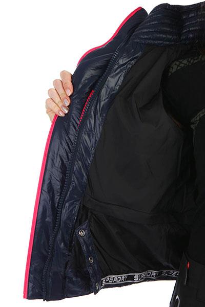 Куртка SuperDry Sport Snow Terrain Down Puffer Navy/Flame Pink