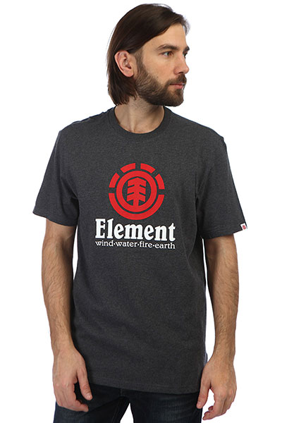 Футболка Element Vertical Charcoal Heather