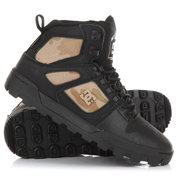 Ботинки высокие DC Pure Ht Wr Boot Black Camo