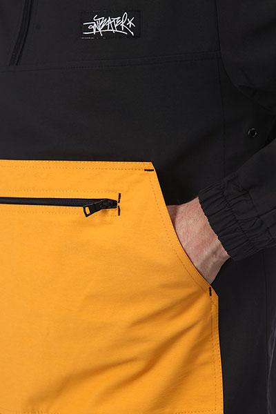 Анорак Anteater Cotton Black_Yellow