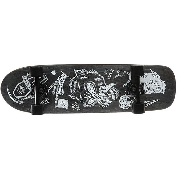"""Скейт круизер Slackers """"волчара"""" Дип Конкейв Black 9 x 32.5 (82.5 см)"""