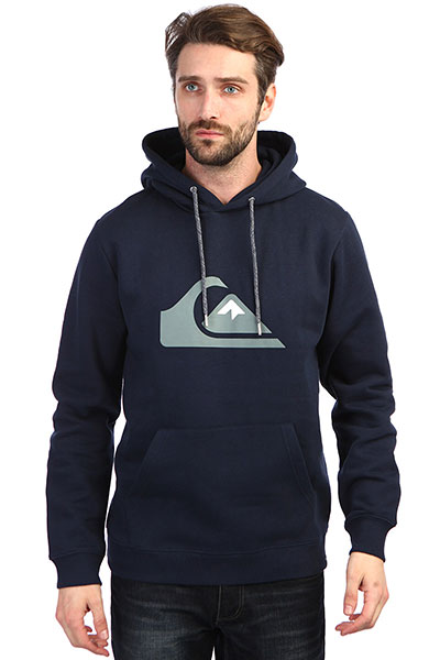 Толстовка кенгуру QUIKSILVER Big Logo Hood Navy Blazer