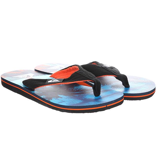 Вьетнамки QUIKSILVER Molokai Layback Black/Orange/Blue
