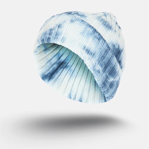 Шапка Stussy Tie Dye Beanie Blue/White