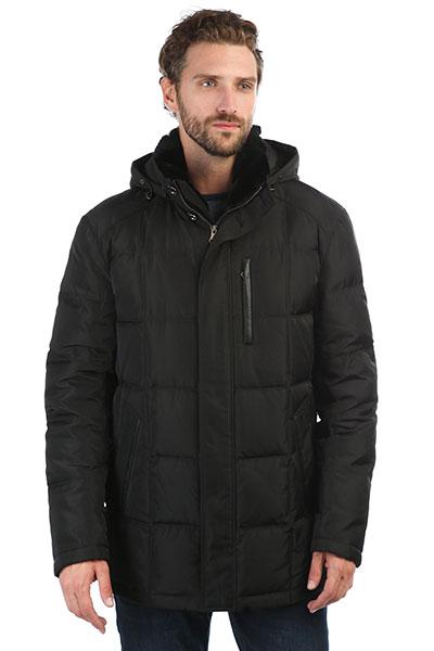 Мужская зимняя куртка пуховая с капюшоном черная CITY SAVANI