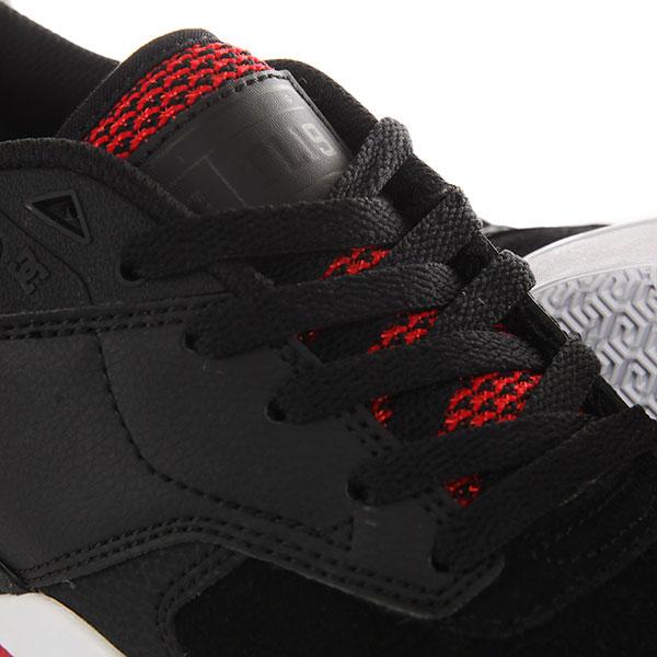 Кеды низкие DC Tiago S Black/Athletic Red/B