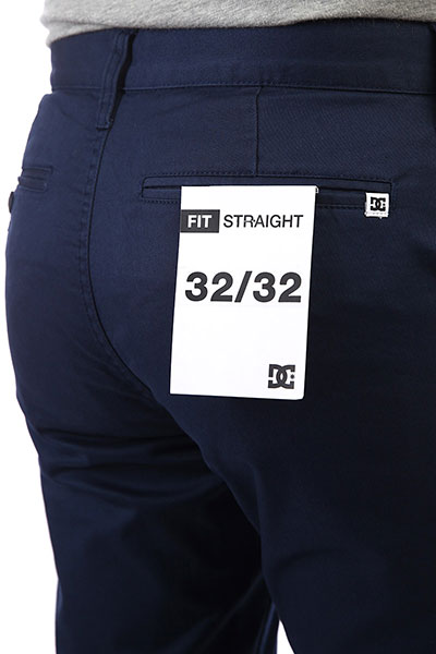 Штаны прямые DC Worker Straight Black Iris