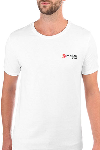 Футболка Wearcraft Premium Slim Fit Mail.Ru Logo Белая