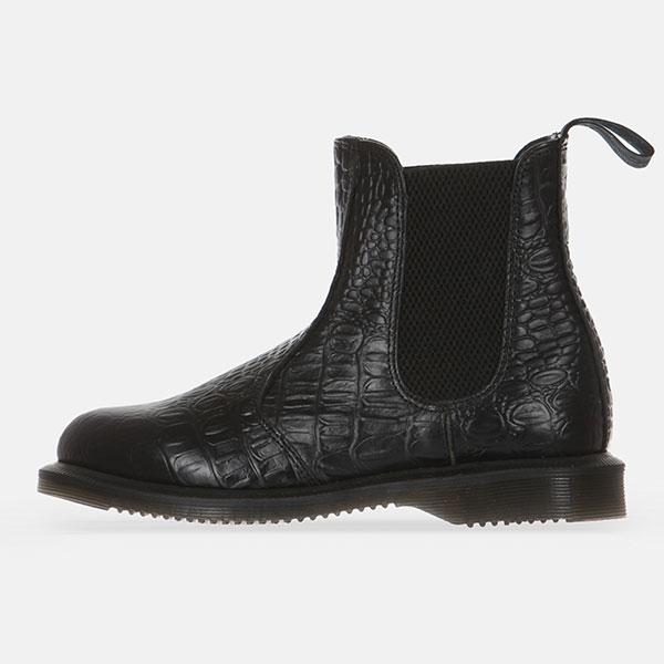 Ботинки высокие женские Dr. Martens Chelsea Vibrance Croco Black