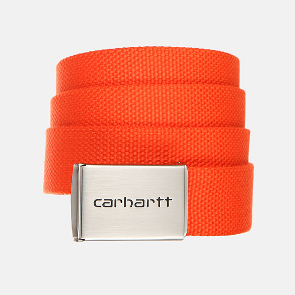 Ремень Carhartt WIP Clip Belt Chrome Pepper