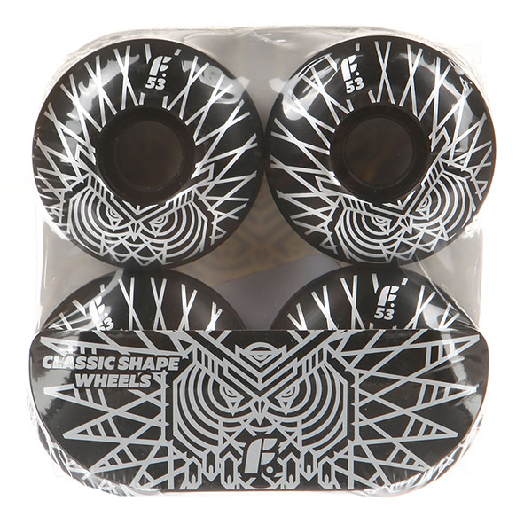 Колеса для скейтборда Footwork Silver Owl Black 99A 53 mm