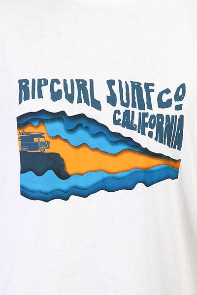 Футболка Rip Curl Van Surf Ss Tee Optical White