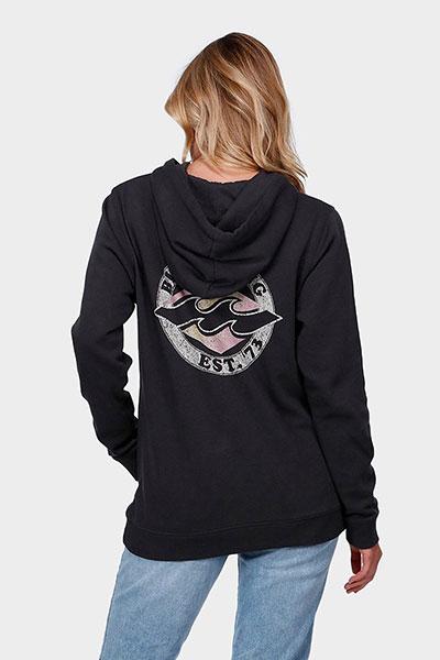 Толстовка кенгуру женская Billabong Revive Hooded Off Black