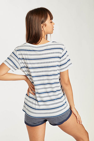 Футболка женская Billabong Beach Day Short Slee  Stripes