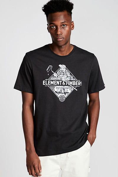 Футболка Element Rolling Ss Off Black