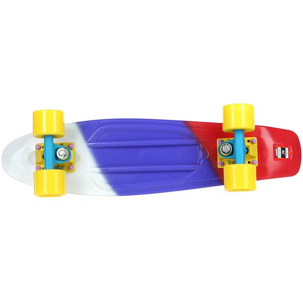 Скейт мини круизер Пластборды Flag 1 Multi 6 x 22 (55.9 см)