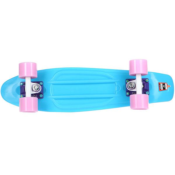 Скейт мини круизер Пластборды Stream 1 Blue 6 x 22 (55.9 см)