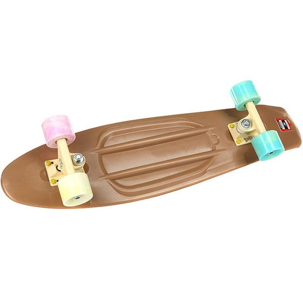 Скейт мини круизер Пластборды Cappuccino 3 Brown 7.5 x 27 (68.5 см)