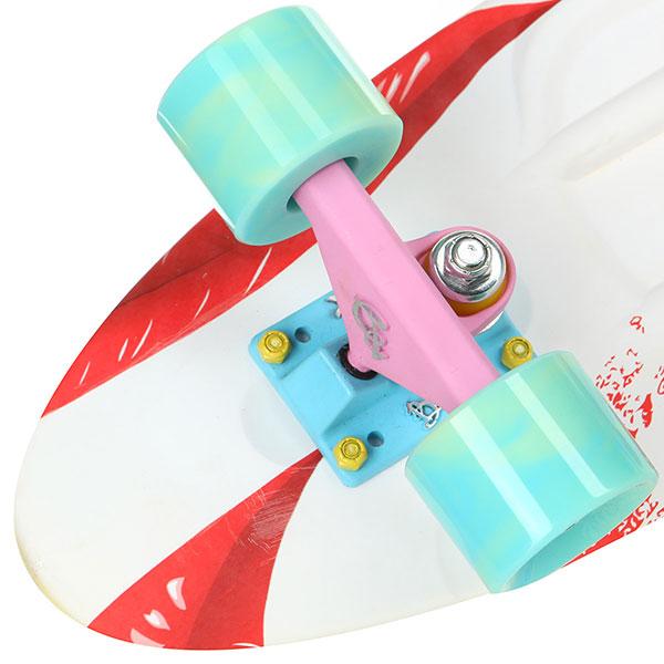 Скейт мини круизер Пластборды Pixel 2 White 7.5 x 27 (68.5 см)