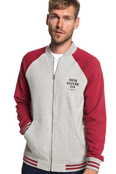 Бомбер QUIKSILVER Saltwaterbrigad Light Grey Heather