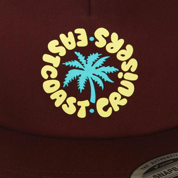 Бейсболка с прямым козырьком Eastcoast Shore Maroon - 8566 -84