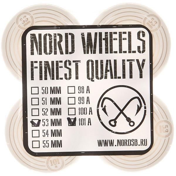 Колеса для скейтборда Nord Орбита White 101A 53 mm