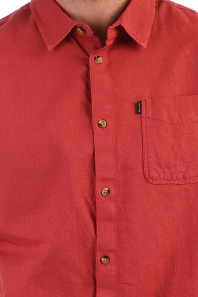 Рубашка Rip Curl Organic Plain Shirt Brick