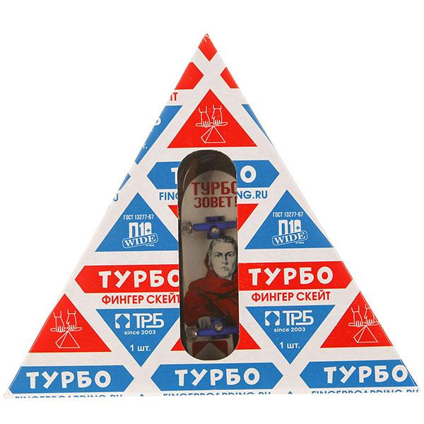 "Фингерборд Turbo-FB П10 ""Советский"" в упаковке ""Молоко"" Zov/Blue/Clear - 8585-80"