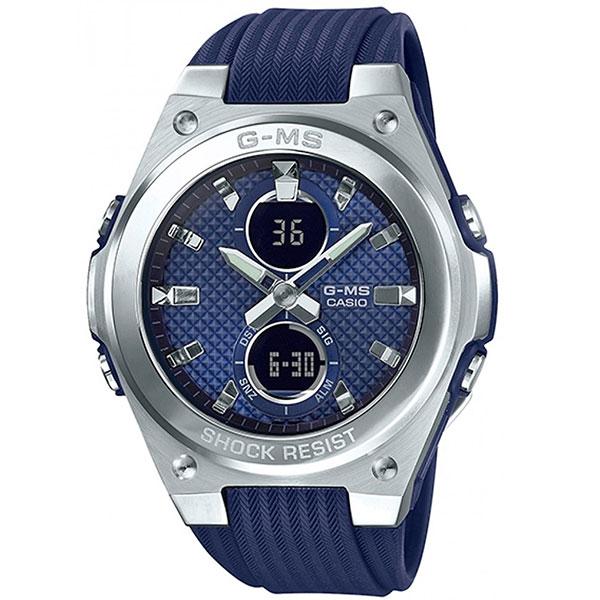 Кварцевые часы женские Casio Baby-g msg-c100-2aer Grey/Blue