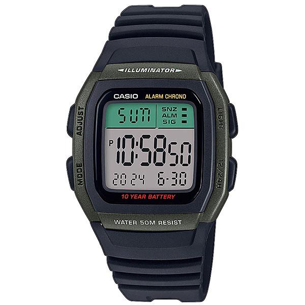 Электронные часы Casio Collection w-96h-3avef Green/Black