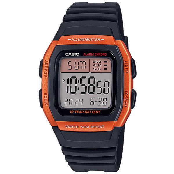 Электронные часы Casio Collection w-96h-4a2vef Orange/Black