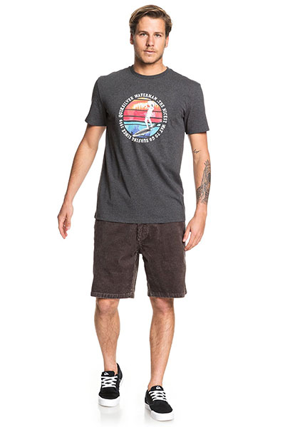 Футболка QUIKSILVER Abstracttrimss Charcoal Heather-8652-64