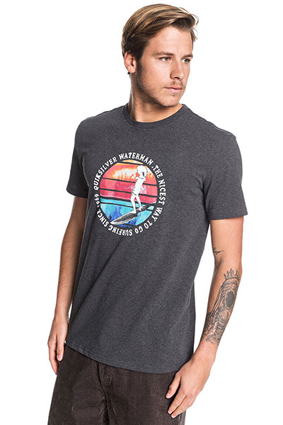 Футболка QUIKSILVER Abstracttrimss Charcoal Heather-8652-128