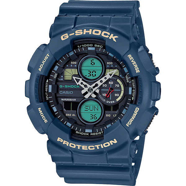 Кварцевые часы Casio G-Shock Ga-140-2aer Blue