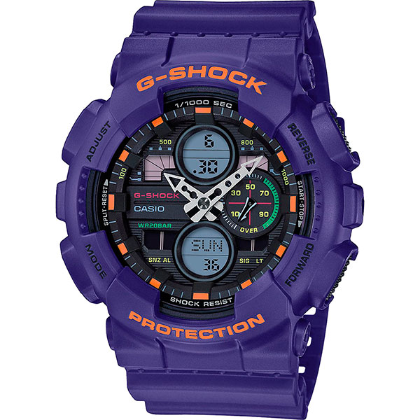 Кварцевые часы Casio G-Shock Ga-140-6aer Purple